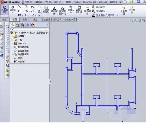 将3D网格导入CAD变成2维图形cad线段模型画一小出图片