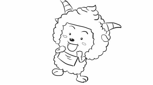 教你如何绘画喜羊羊与灰太狼中懒羊羊卡通动漫儿童简笔画教程