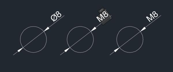 CAD螺纹标注中间有个文件直径,转化Mcad例如成caxa格式符号图片
