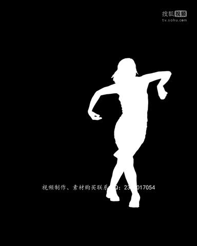 3zd 创意视频基地素材 舞蹈剪影男女性视频素材合辑人人素材网