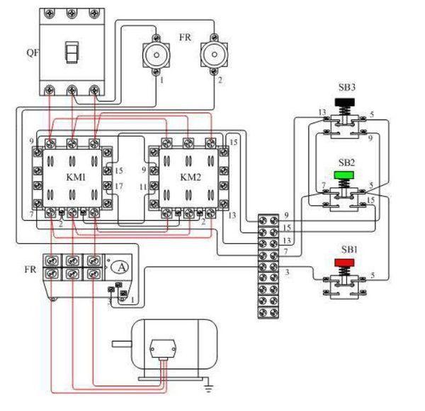 异步电动机怎么接线才可以反转?