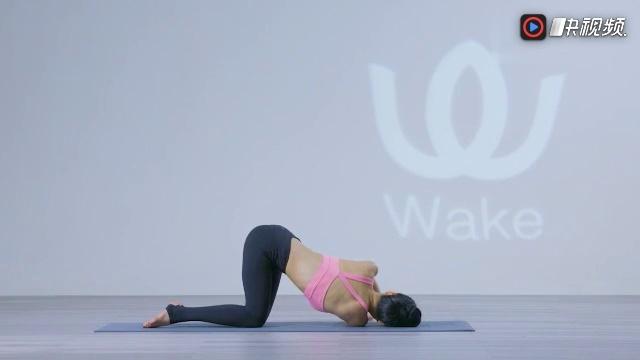 wake瑜伽体式库:猫式扭转变体图片