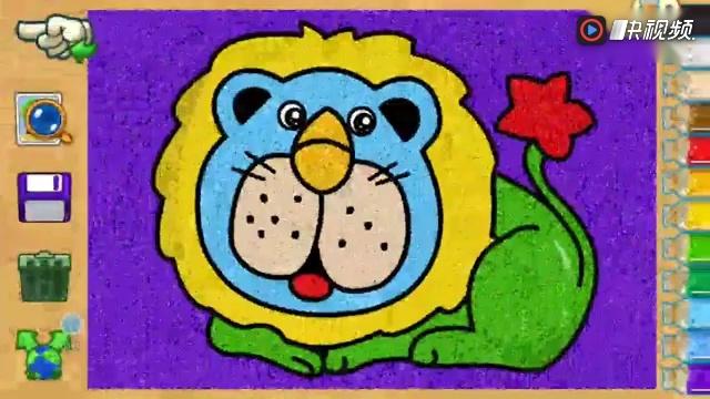 儿童爱涂色 圣诞树 儿童学画画沙画 水彩画 亲子智力小游戏过家家