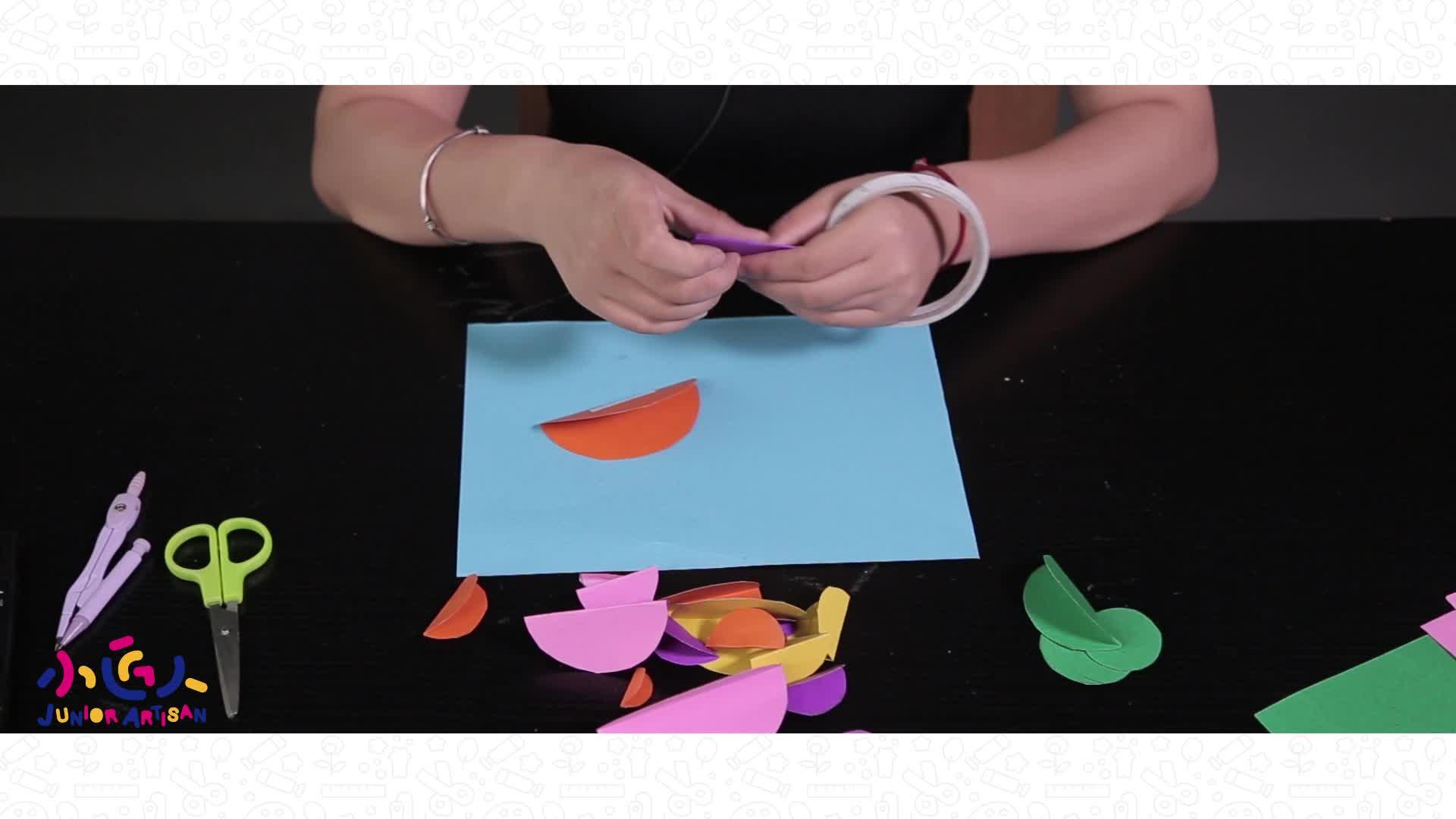 幼儿简单手工小制作:小匠人剪纸手工如何用纸做小鱼.-小匠人tv-六.
