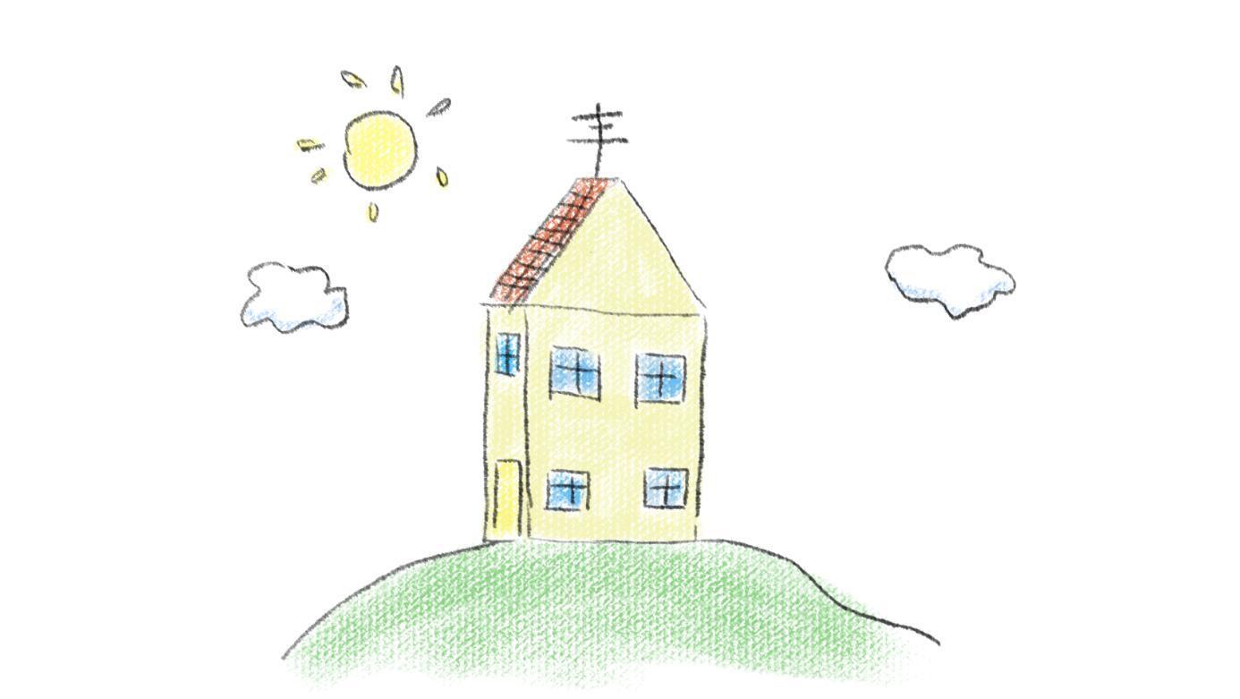 小猪佩奇的房子亲子简笔画 宝宝轻松学画画图片
