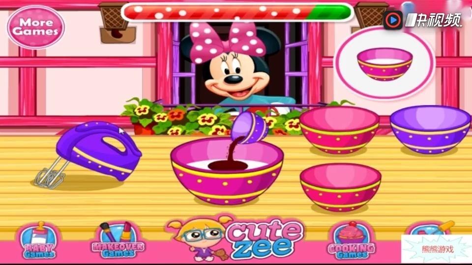 米老鼠和唐老鸭 米妮自作米妮纸杯蛋糕小游戏