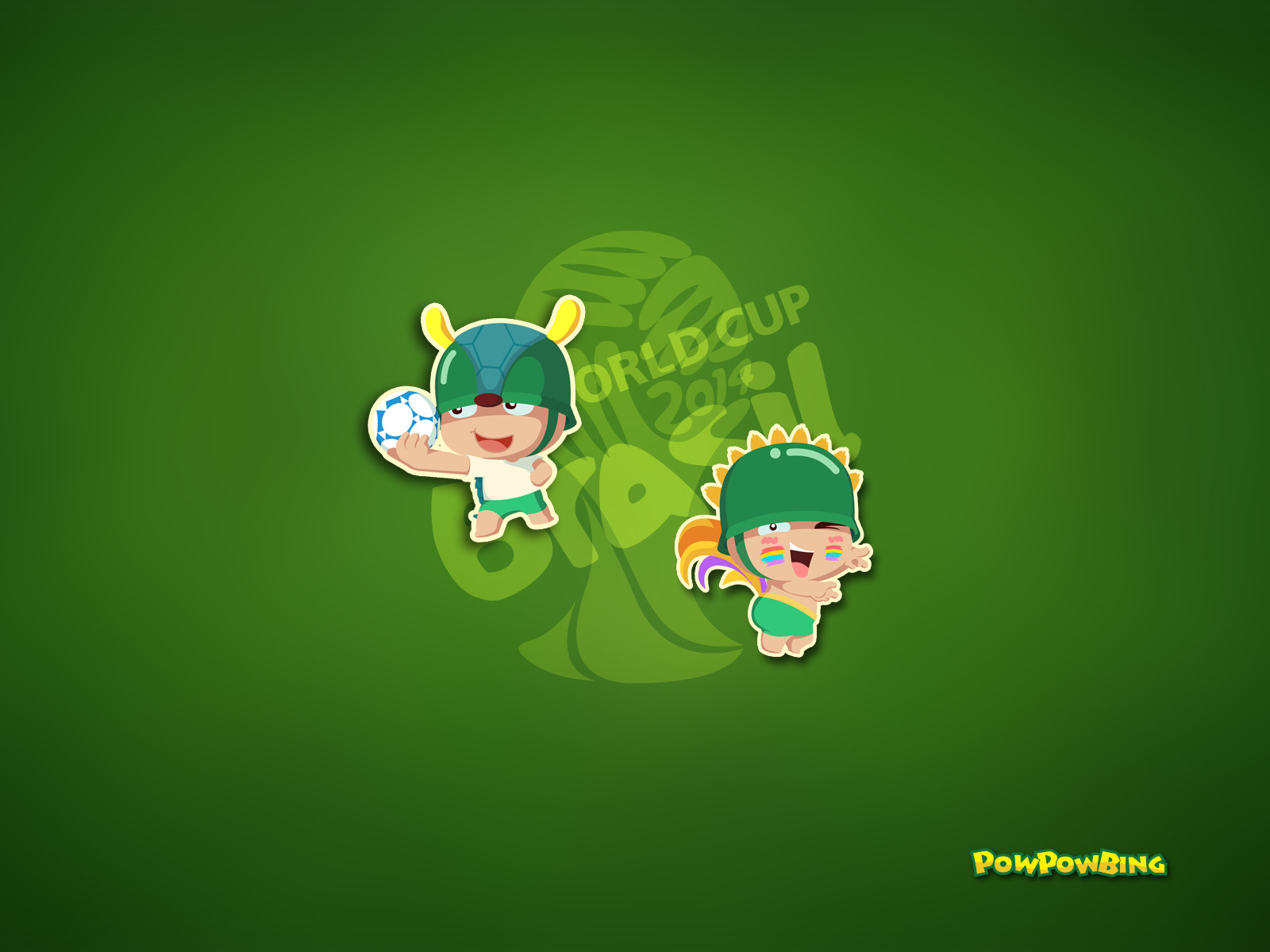 深綠色手機壁紙卡通