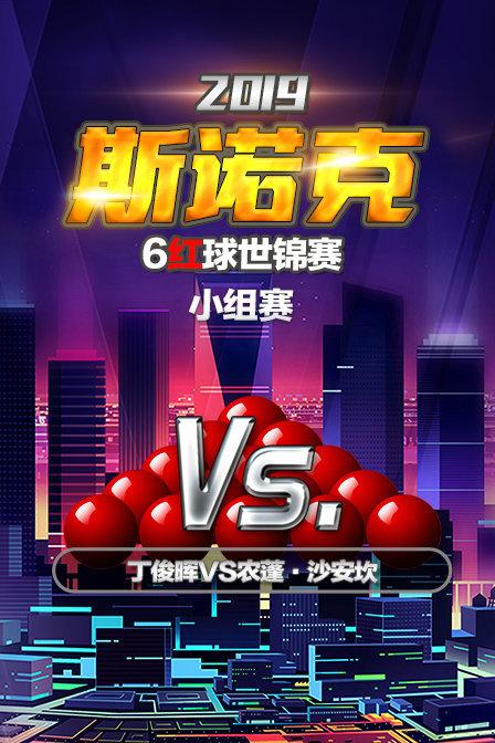 2019斯诺克6红球世锦赛 小组赛 丁俊晖VS农蓬·沙安坎