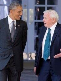 BBC:大卫·爱登堡会面奥巴马