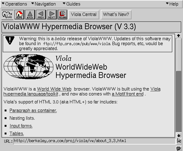 Viola browser screenshot