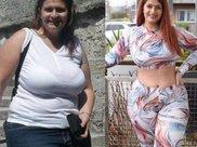 从230斤胖妞到110斤女神,为了爱情的她真的是够狠了