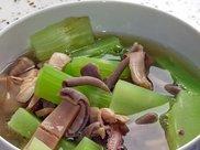 家常菜,山药青笋炒鸡肝,制作过程