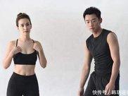 """郑恺卢靖姗健身房秀肌肉,网友:小猎豹hold不住""""战狼嫂"""""""