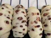 创意面食红豆蒸卷,浓浓的奶香和红豆味儿,甜而不香软好吃!