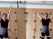 挺大肚练瑜伽,43岁的蒋勤勤,可谓是娱乐圈里妈妈们的楷模