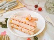 11M+Q弹细腻的鲜虾猪肉玉米肠:宝宝辅食营养食谱菜谱