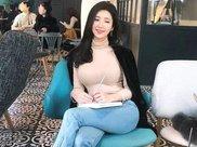 享受美食又保持身材,韩国美女腰臀比0.6,身材曼妙,绽放健身美
