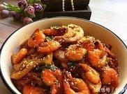 麻辣藕片虾 这么做孩子吃了直流口水 上桌就光