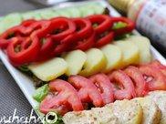 教你在家自制芝香蔬菜沙拉,怎么吃都不长胖