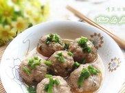 清蒸肉圆,做法十分简单,小孩好喜欢吃!