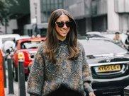 今年毛衣流行穿大件的,遮肉显瘦又保暖,这么穿秒变温柔女神