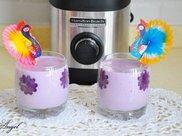 牛奶紫薯燕麦米糊