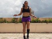 跳绳才是减肥王牌,胖女孩坚持挑战3个月,看健身效果