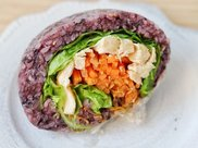 紫米低脂鸡肉饭团