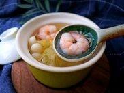 虾仁海鲜菇烧白菜汤
