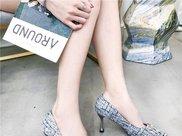女生小粗腿这么穿,尖头高跟鞋夏天穿不闷热