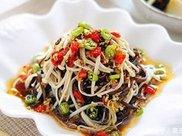 简单几步教你制作,中式减肥美食双浇头金针菇,吃出新花样
