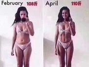 女生108斤VS110斤,这就是减脂和减重的区别!