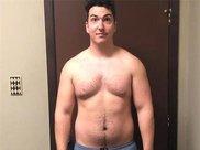 重200斤胖哥,减肥5个月瘦了34斤,小肚子也变成了腹肌