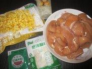 自制鸡肉玉米肠