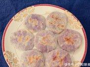 无糖无油低脂紫薯饼,减肥首选,香甜可口,外酥里嫩吃起来有嚼劲