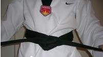 白带跆拳道腰带系法