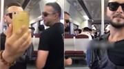 老外地铁性骚扰女乘客