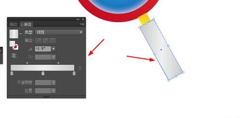 Ai绘制放大镜的图标