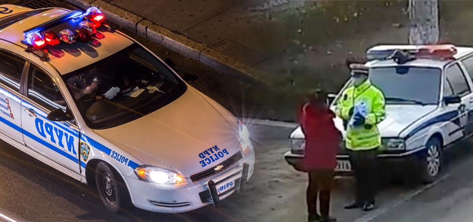 """女子在警车前""""形迹可疑"""""""