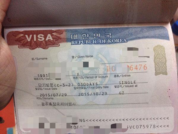 韩国自由行,委托携程办理的,然后我在签证网上