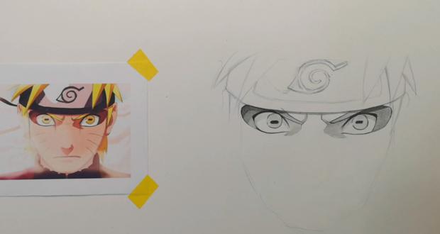 火影忍者人物素描画怎么画