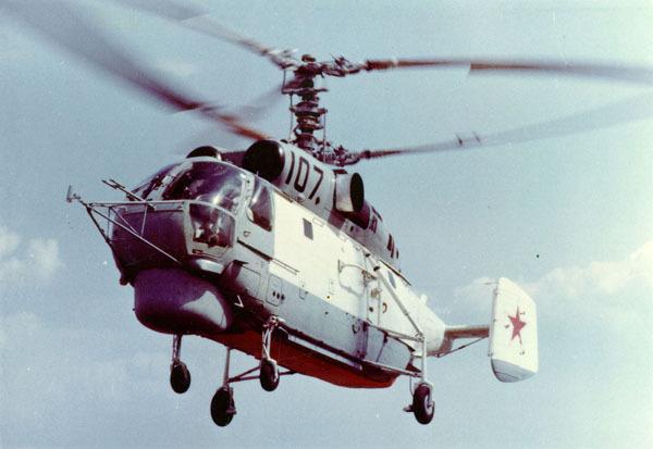 和其他卡莫夫直升機一樣,卡-27采用共軸可折疊雙螺旋槳.圖片