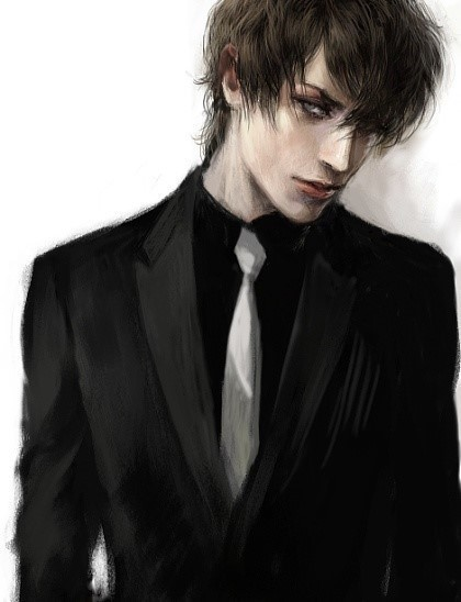 求男生高冷孤傲帅气漫画黑白孤独非真人的qq头像 天下