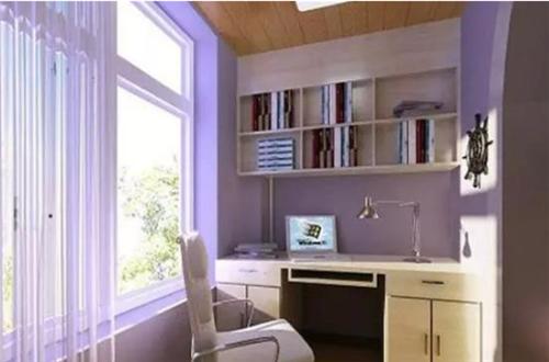 陽臺小書房裝修效果圖 如何把陽臺改造成書房呢