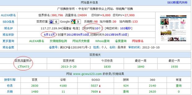 柳焕斌广场舞教学网实战案例对SEO的启发 三联