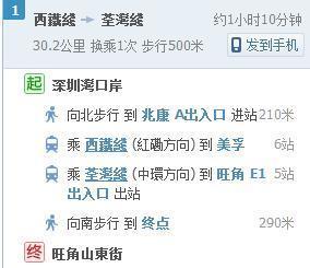 从深圳湾口岸去香港旺角,是坐中港通大巴(38元