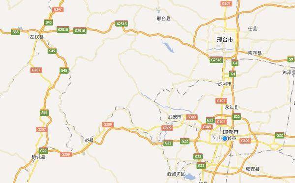 邢台市地图高清版_城市地图