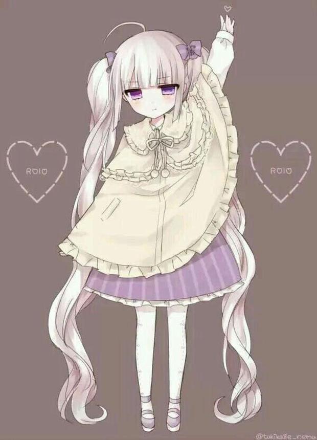 紫色眼睛的动漫女_动漫银发红蓝异瞳少女图片