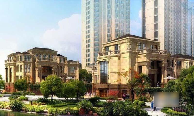由4幢高層公寓,7棟別墅以及2幢精裝公寓和2幢寫字樓