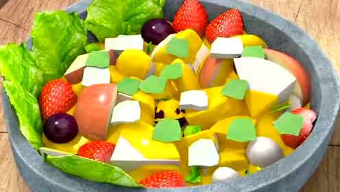 熊熊乐园小朋友们终于做好了水果午餐!